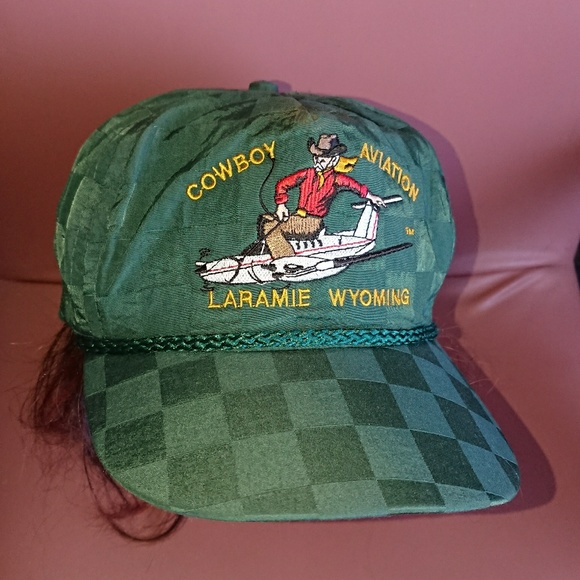 Vintage men's hat Cowboy Aviation Laramie Wyoming